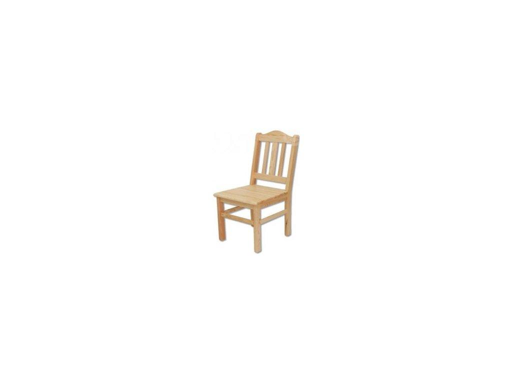 Masivní dřevěná jídelní židle KIK 101 borovice masiv