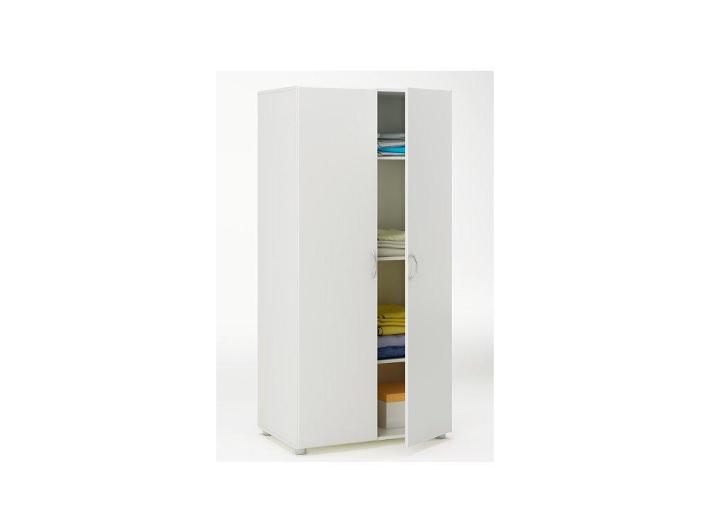 Skříň dvoudveřová 175062 bílá
