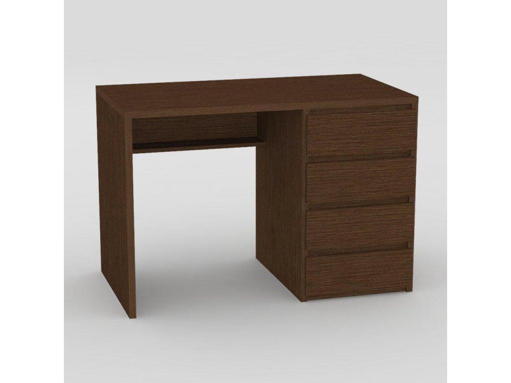 Moderní psací stůl wenge -pravé provedení