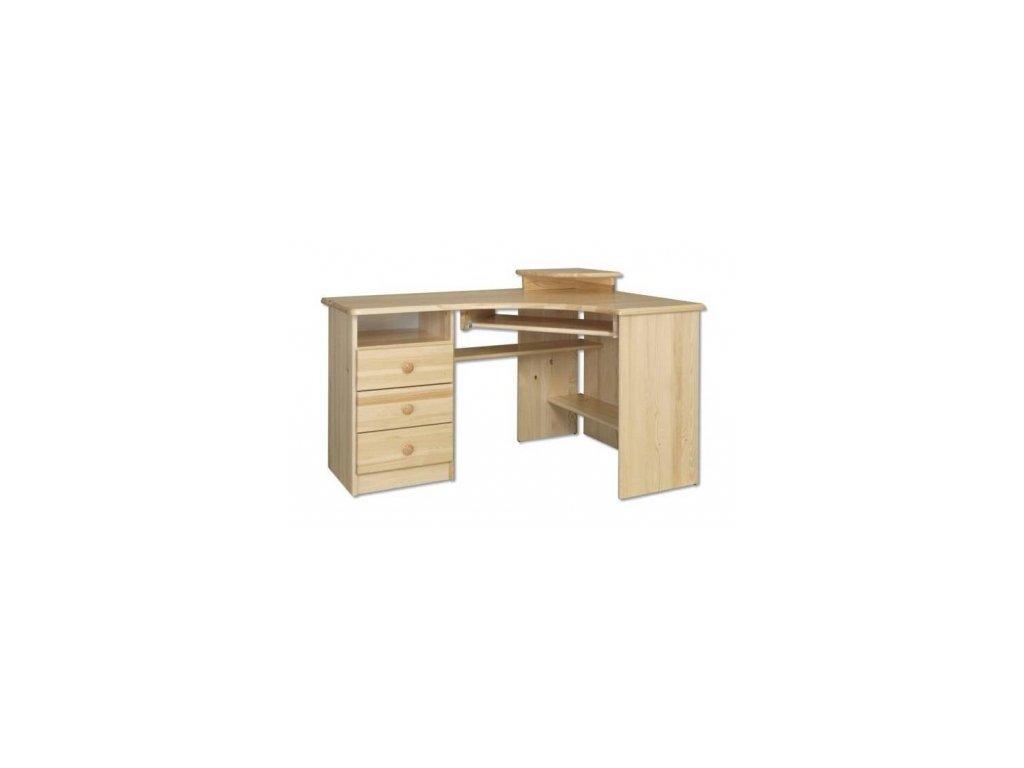Rohový psací stůl KIK  108 borovice masív