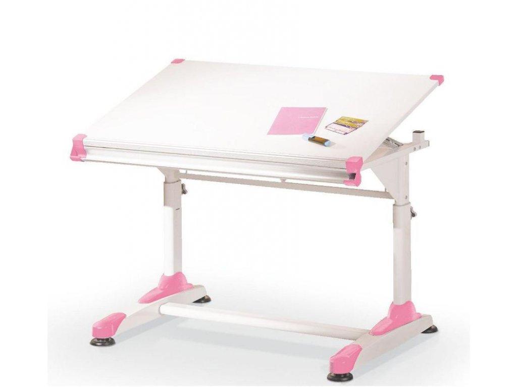 Dětský rostoucí psací stůl COLLORIDO - růžovo/bílý