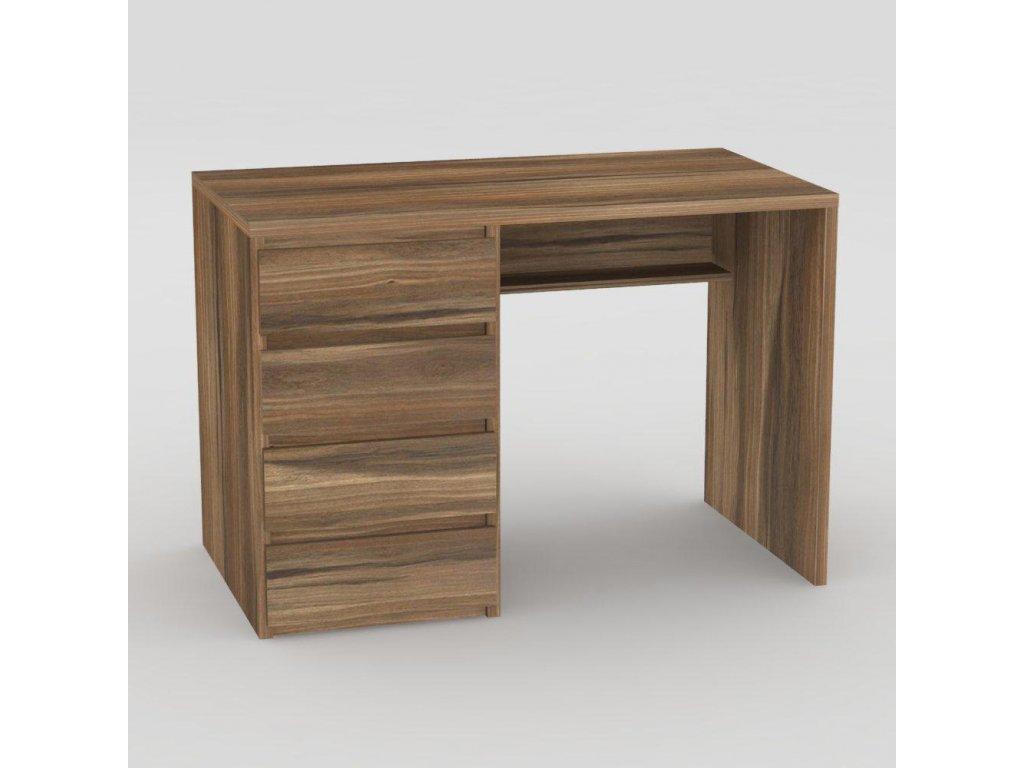 Moderní psací stůl ořech rockpile -levé provedení