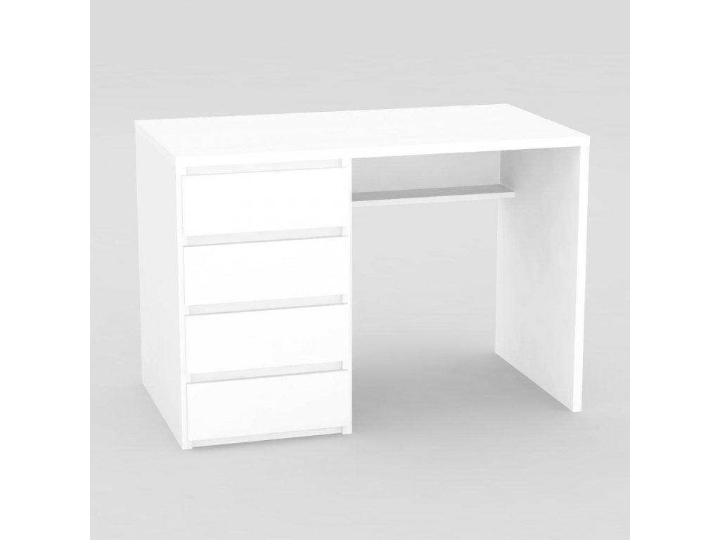 Moderní psací stůl RP bílý -levé provedení