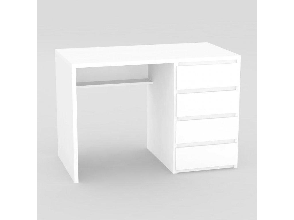Moderní psací stůl RP bílý -pravé provedení