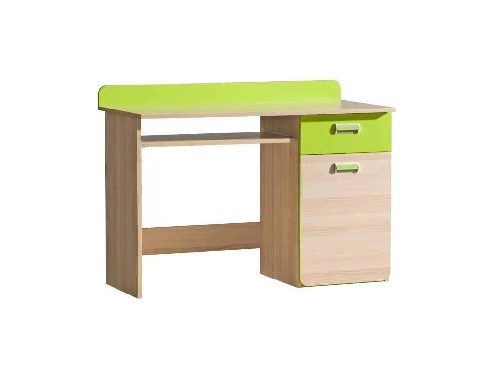PC stůl, jasan/zelený, EGO L10