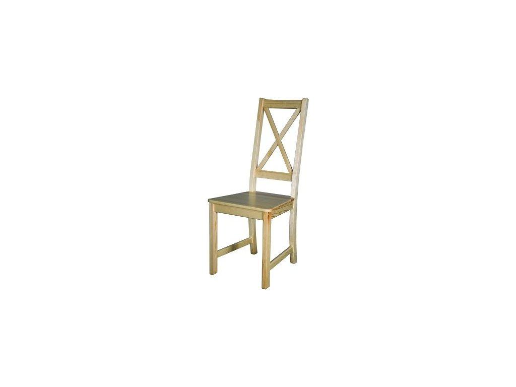 Masivní dřevěná jídelní židle KIK 112 borovice masiv