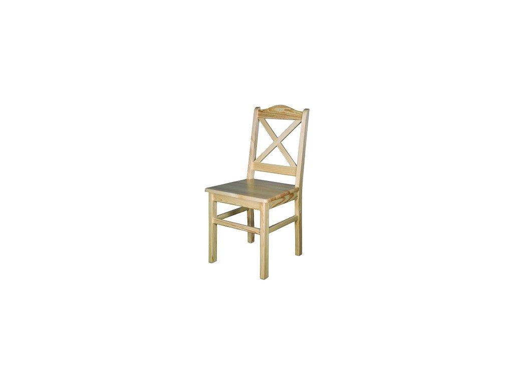 Masivní dřevěná jídelní židle KIK 113 borovice masiv