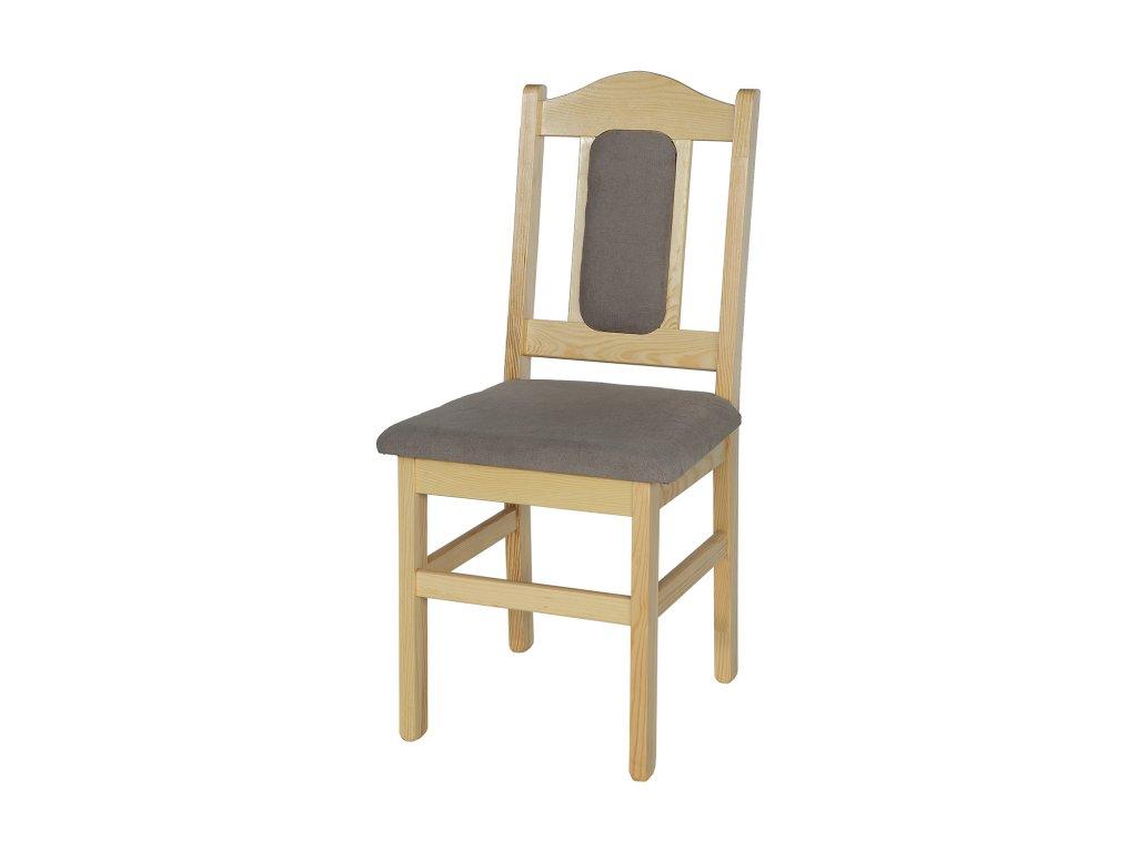 Masivní dřevěná jídelní židle KIK 102 s polstrováním borovice masiv