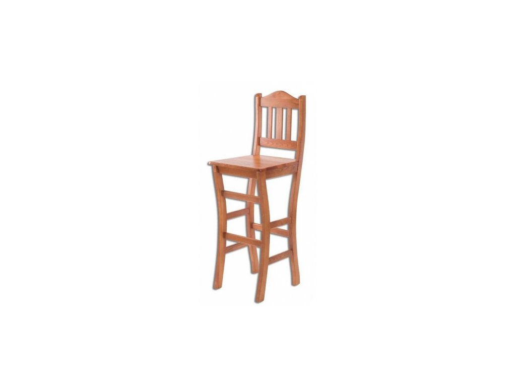 Bytelná dřevěná barová židle KIK 111 borovice masiv