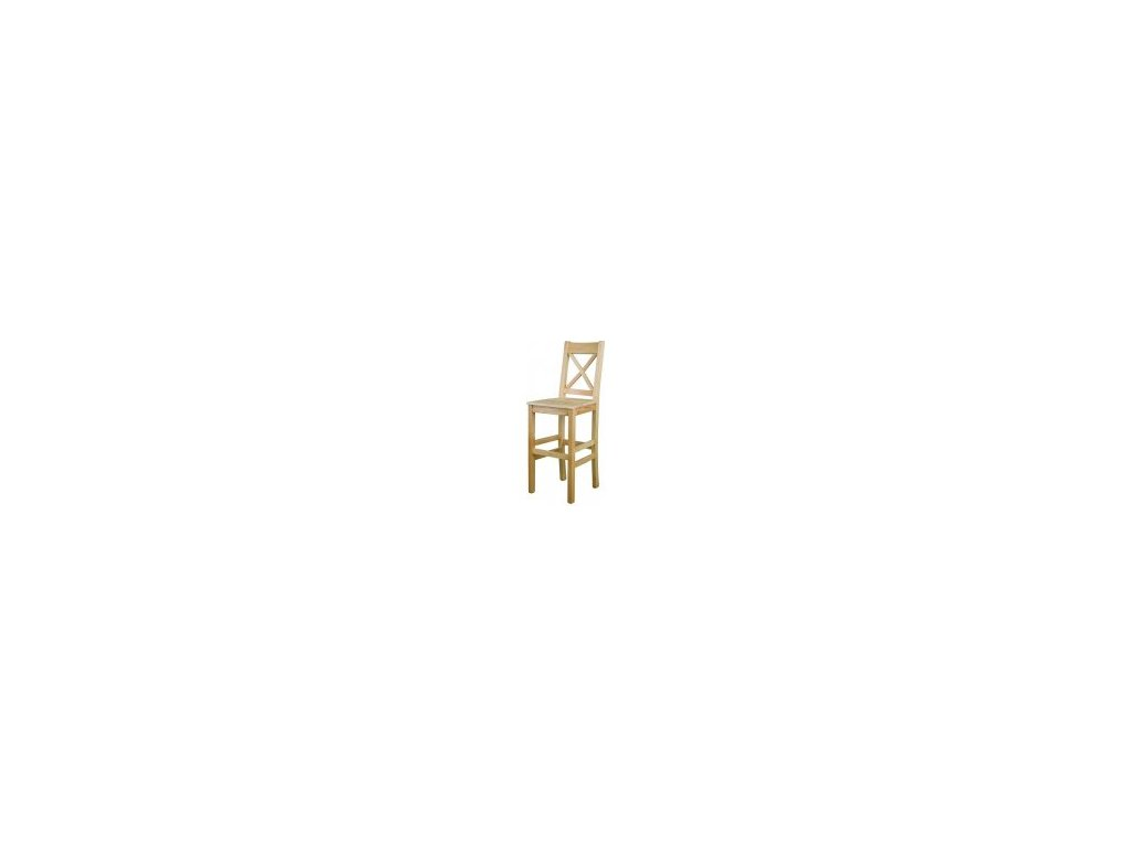 Barová dřevěná jídelní židle KIK 117 borovice masiv