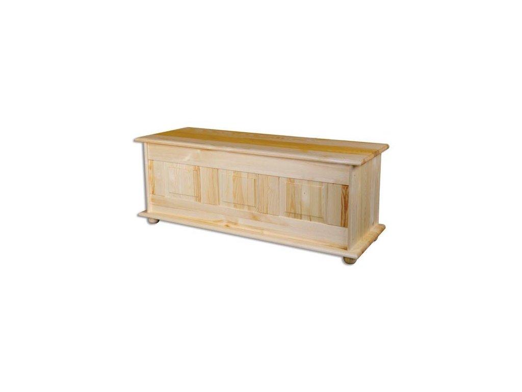 Dřevěná truhla  KIK 103 borovice masiv šířka 125 cm