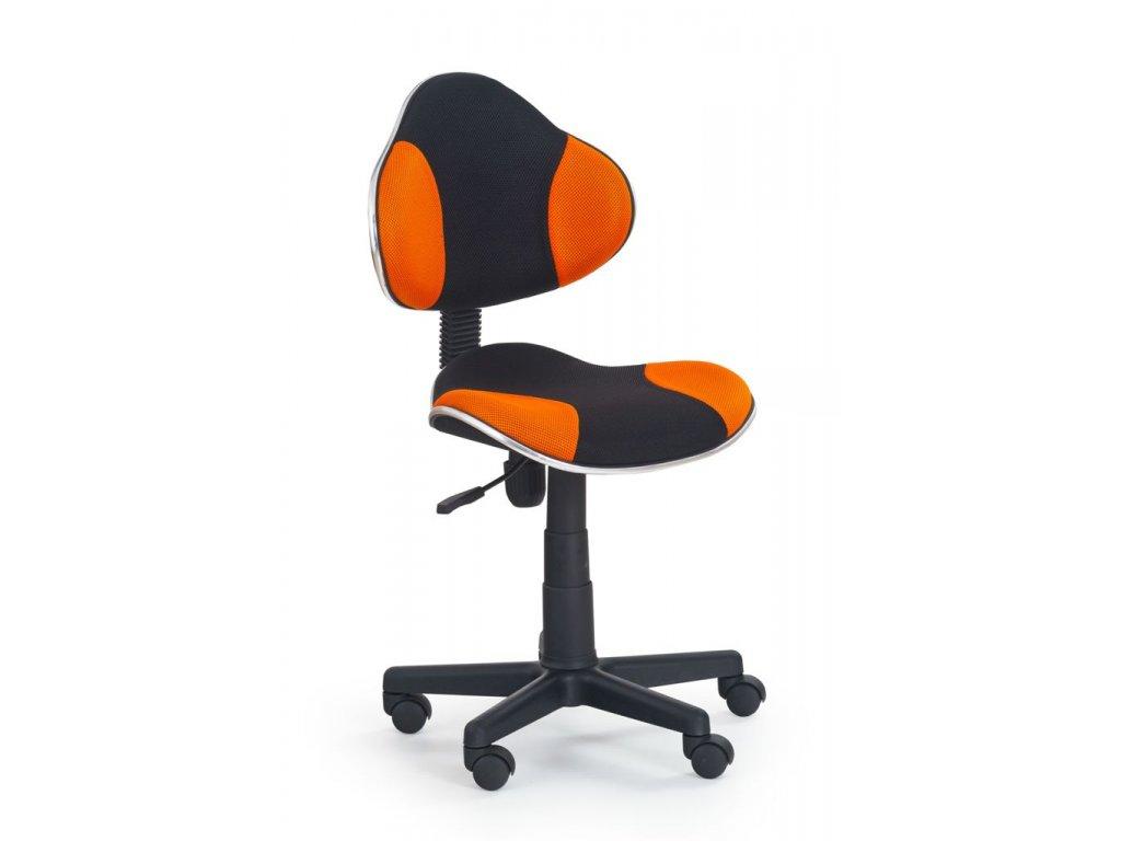 Židle QZY-G2 černo-oranžová  - SKLADEM