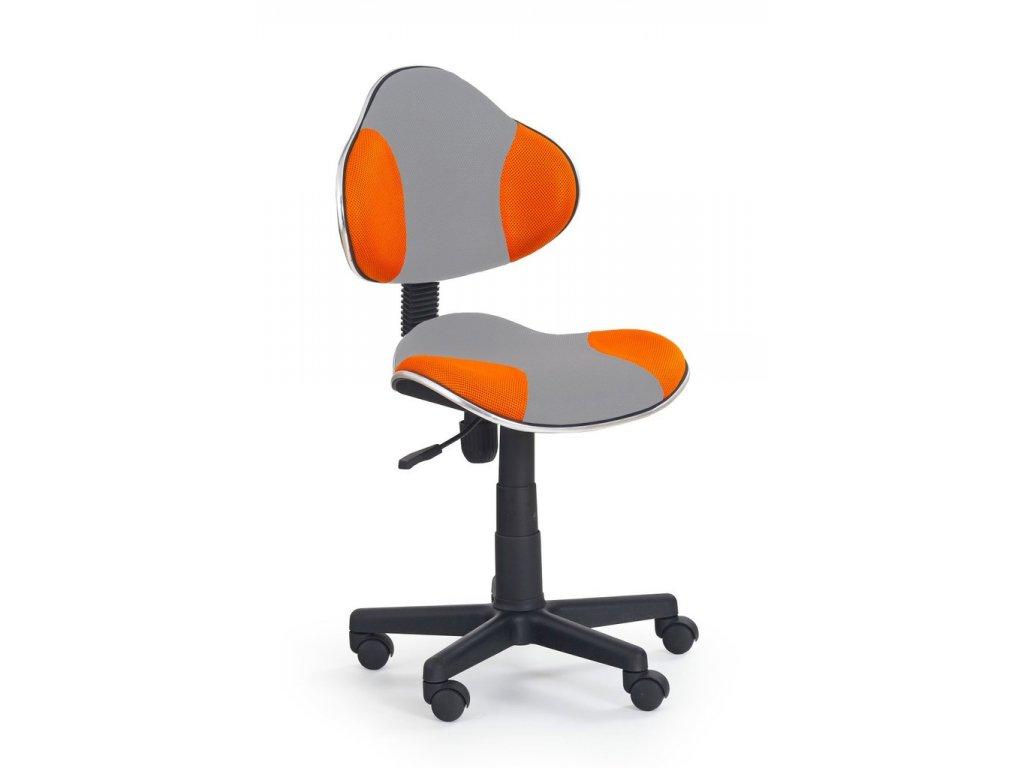 Židle QZY-G2 šedo oranžová  - SKLADEM