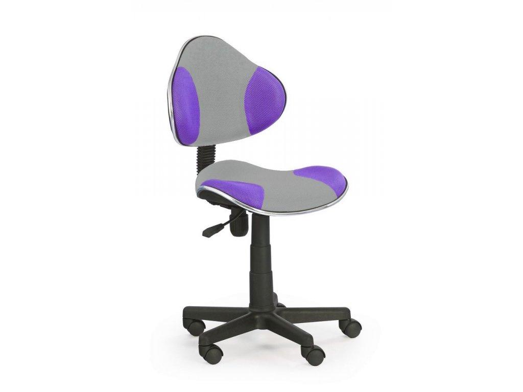 Židle OZY-G2 šedo fialová  - SKLADEM