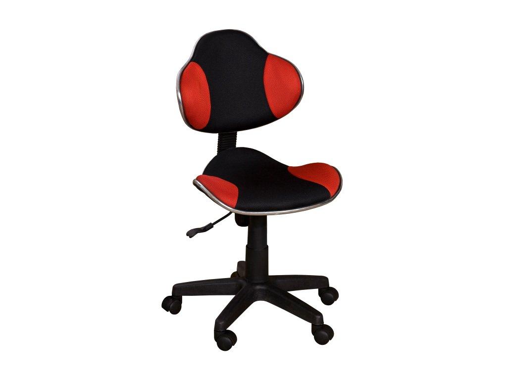 Židle QZY-G2 černo-červená - SKLADEM
