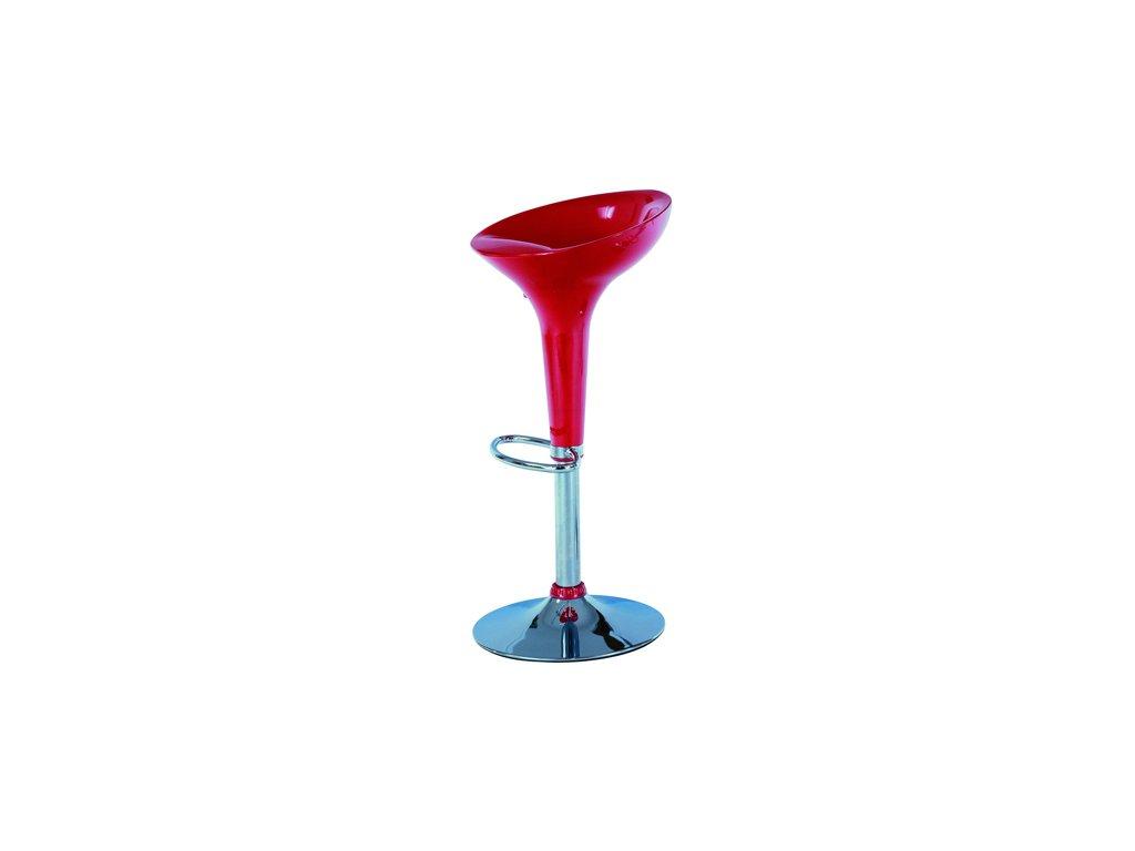 Barová židle AUB-9002 červená