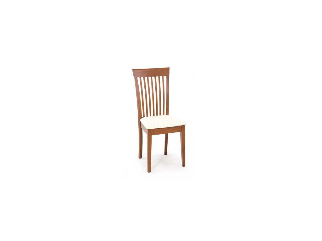 YAC213S TR2 jídelní židle třešeň,potah světlý se vzorem