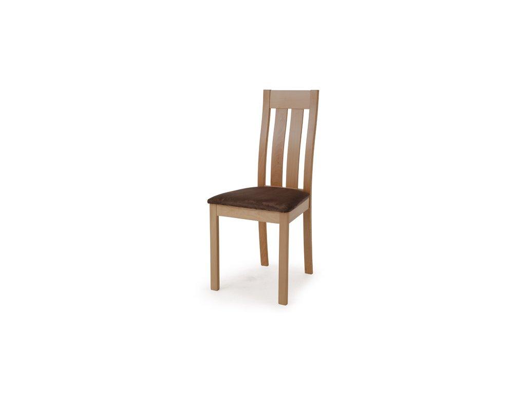 BC-2602 BUK3 židle masiv buk, barva buk, potah hnědý