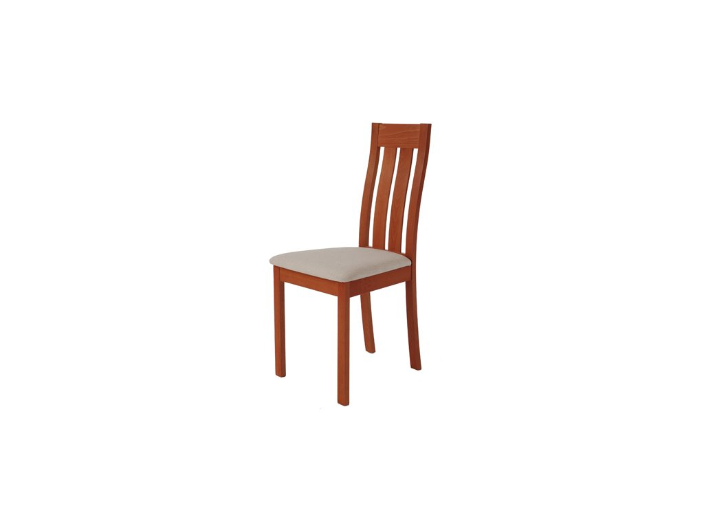 BC-2602 TR2 židle masiv buk, barva třešeň, potah béžový