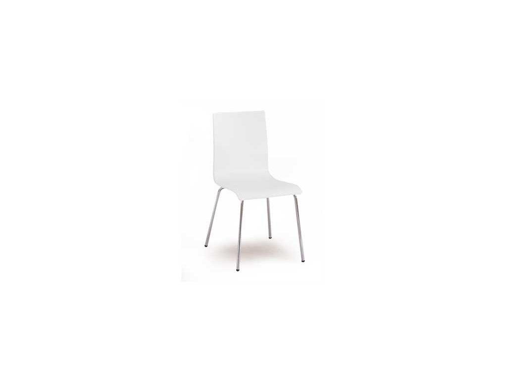 C-493 WT židle chrom/překližka bílá