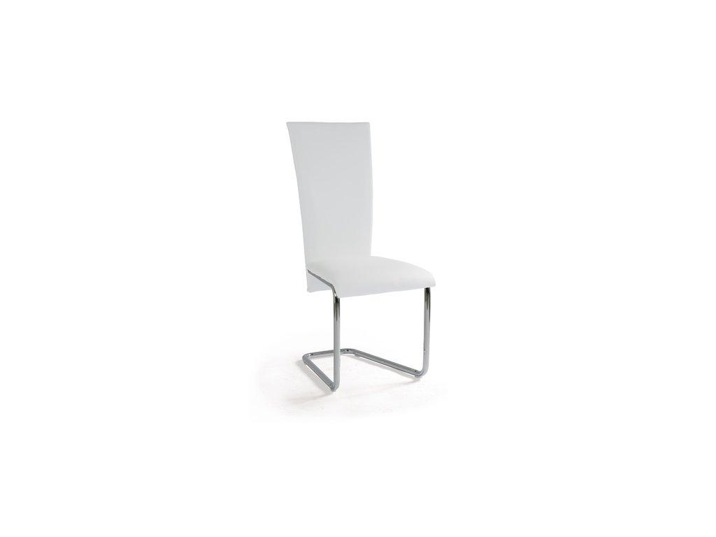 AC-1739 WT jídelní židle chrom / bílá koženka