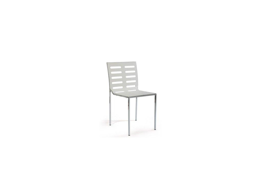 CT-123-2 WT jídelní židle bílá, chrom/plast