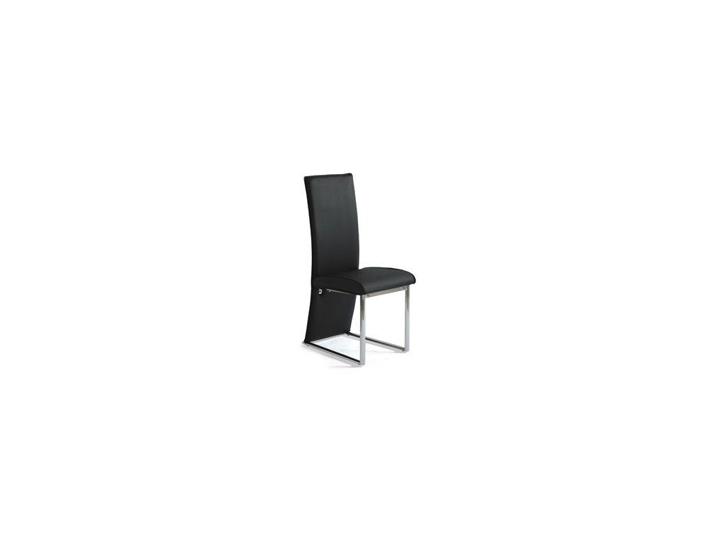 AC-1367 BK jídelní židle chrom/koženka černá
