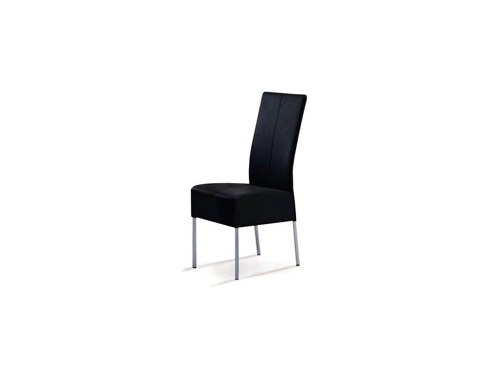 AC-2101 BK Jídelní židle, alu / koženka černá