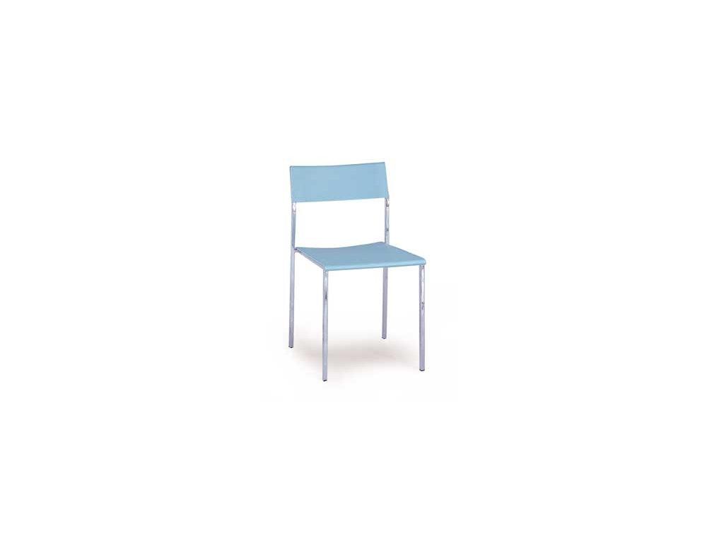 CT-222 BLUE židle plastová modrá,chrom