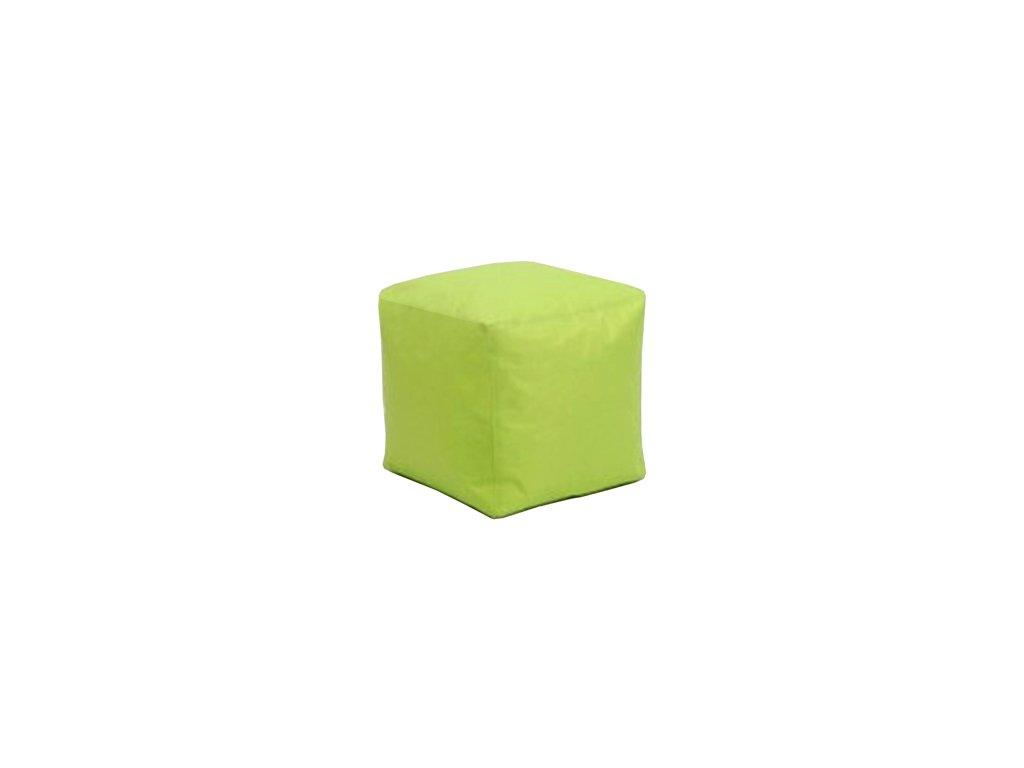 Sedací taburet  CUBE zelený