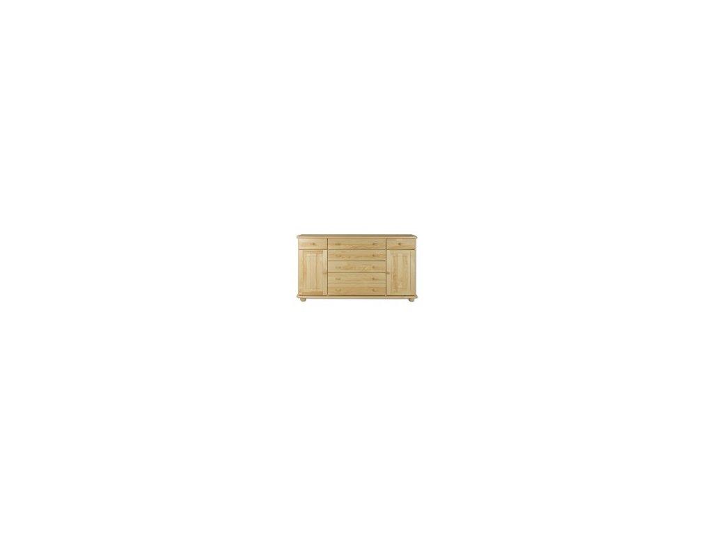 Dřevěná komoda  borovice masiv KIK 150 165x92x42 cm