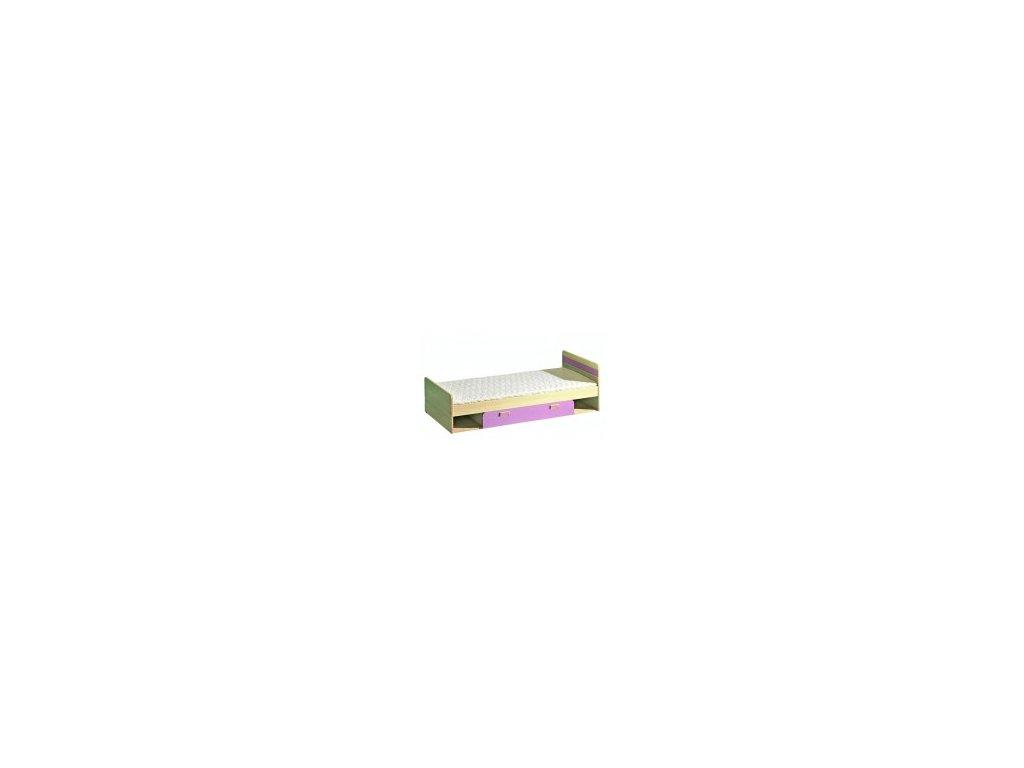 Postel s úložným boxem LIMO L13 fialová vč.matrace a roštu
