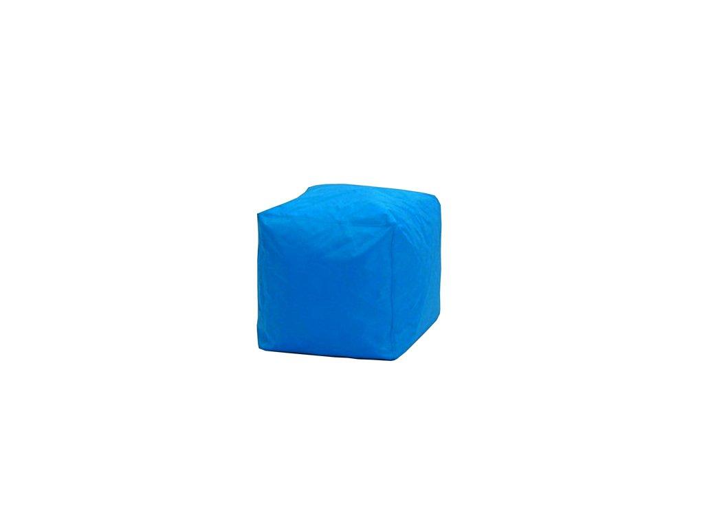 Sedací taburet  CUBE modrý