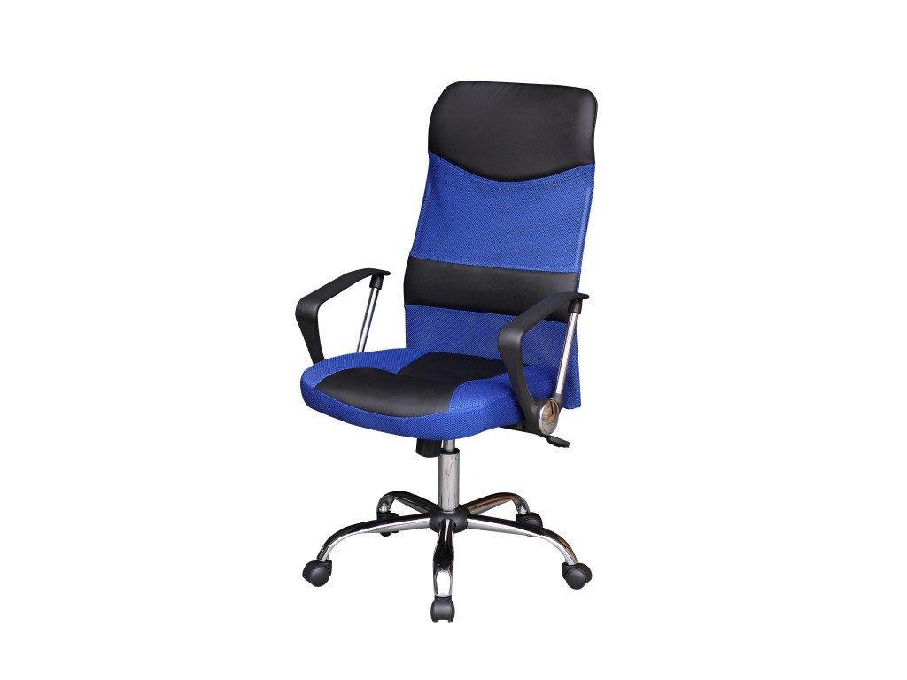 Kancelářské křeslo TC3-973M modré/černé s houpacím mechanismem