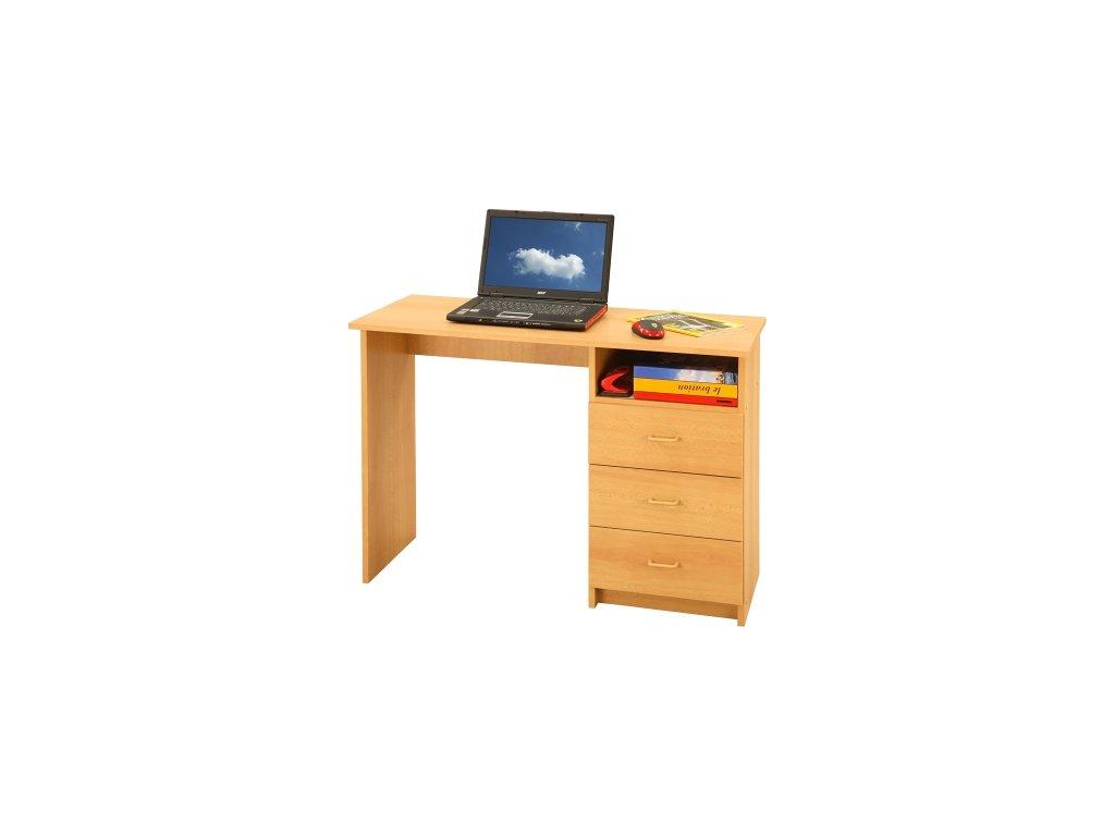 psací stůl odstín buk - SKLADEM