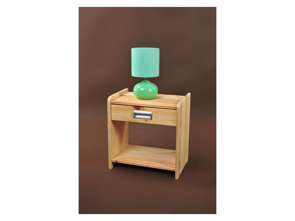 Noční stolek Viktor -borovice masiv