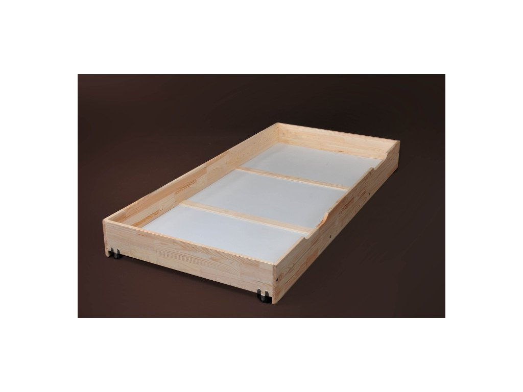 Velký jednostranný úložný box pod postel -borovice masv