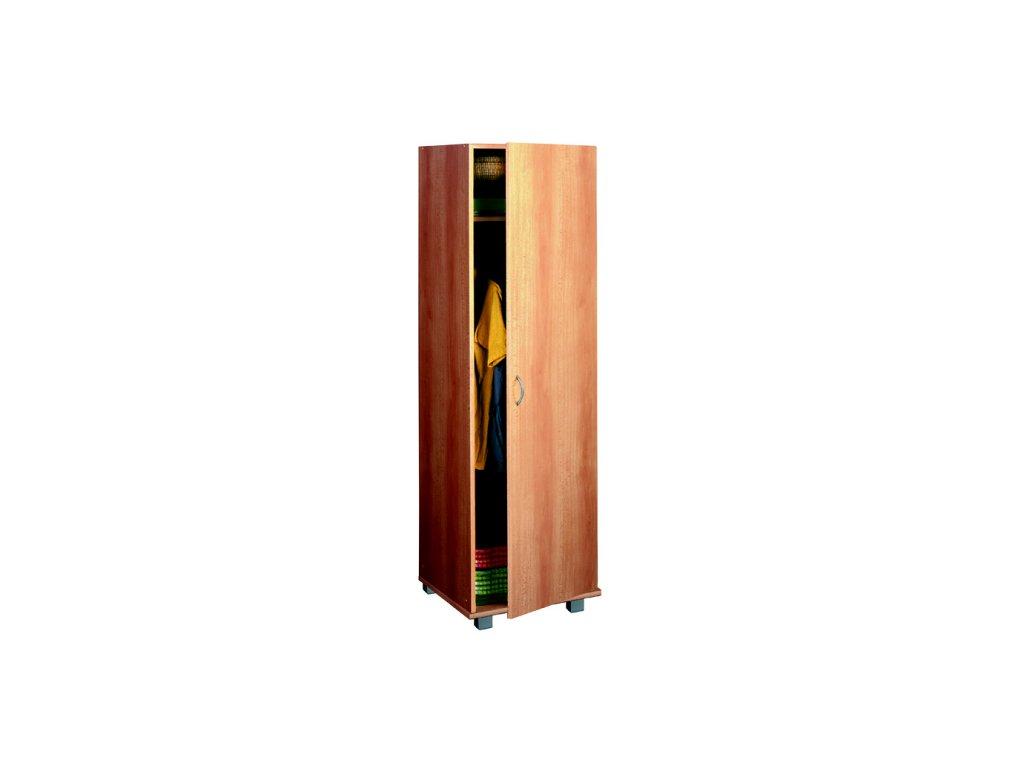 Šatní skříň jednodvéřová odstín buk
