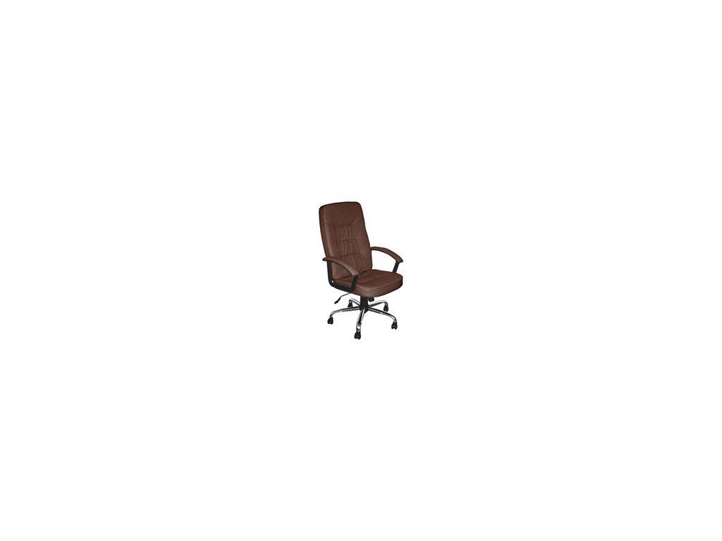 Kancelářské křeslo hnědé-houpací mechanismu-skladem