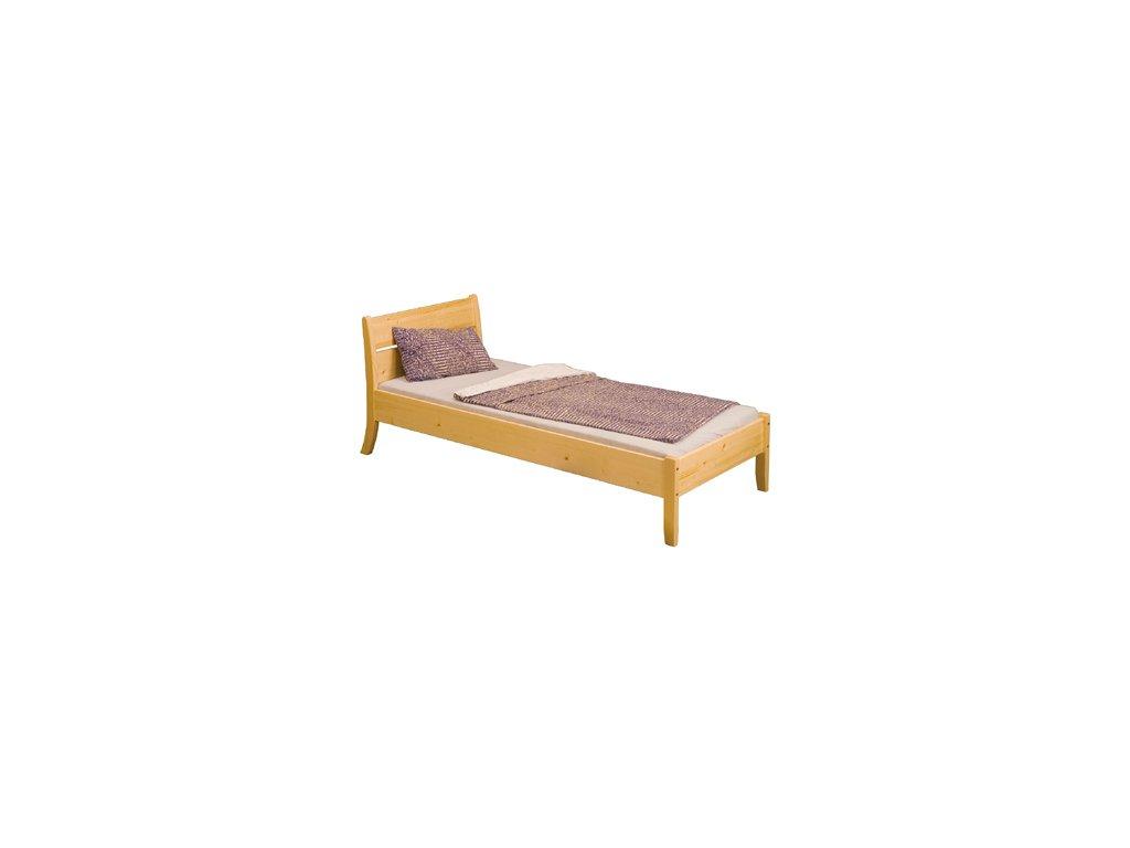 Dřevěná postel smrk masiv 90/200 cm