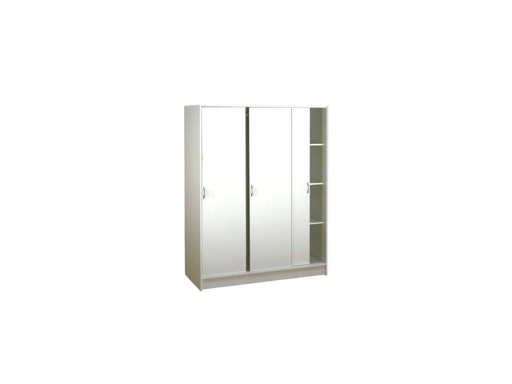 Třídveřová šatní skřín -posuvné dveřě
