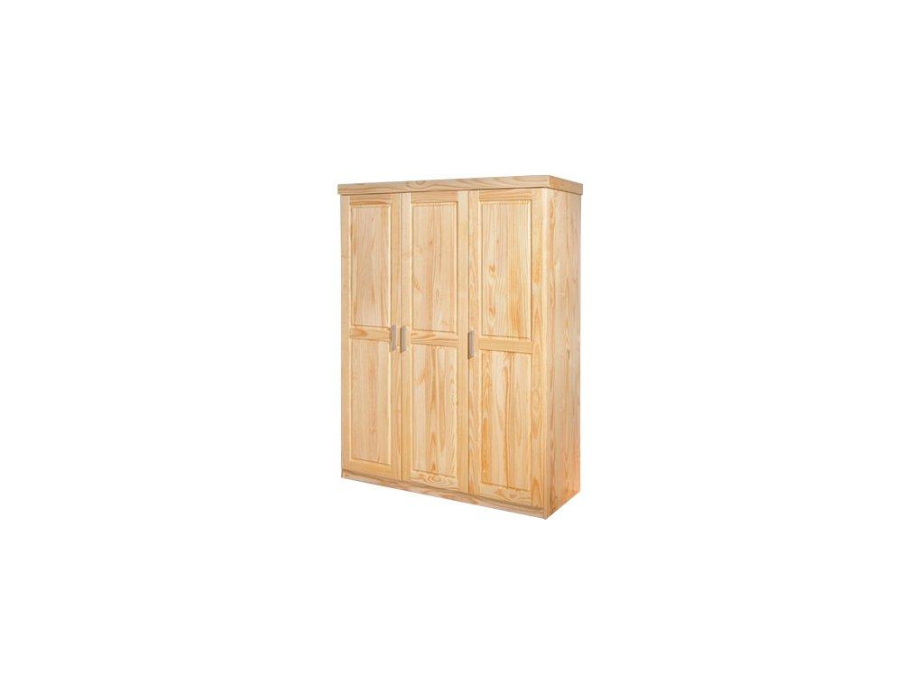 Kvalitní šatní skřín 3 dveřová -borovice masiv