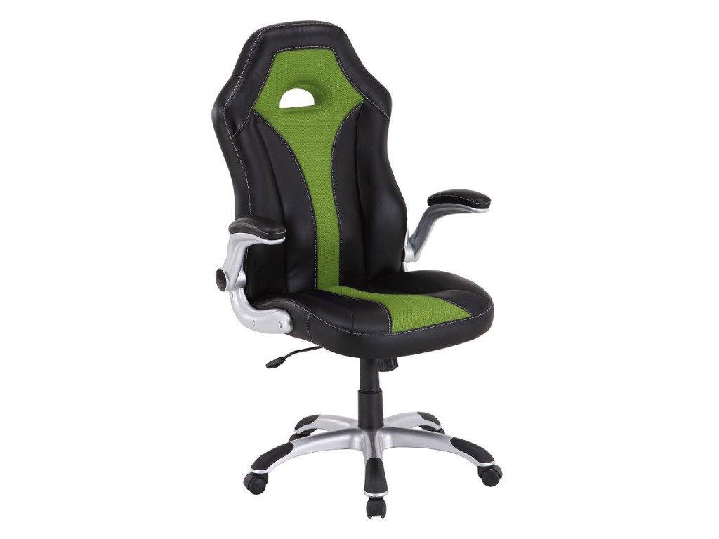Kancelářské křeslo zeleno/černé, nastavitelné područky