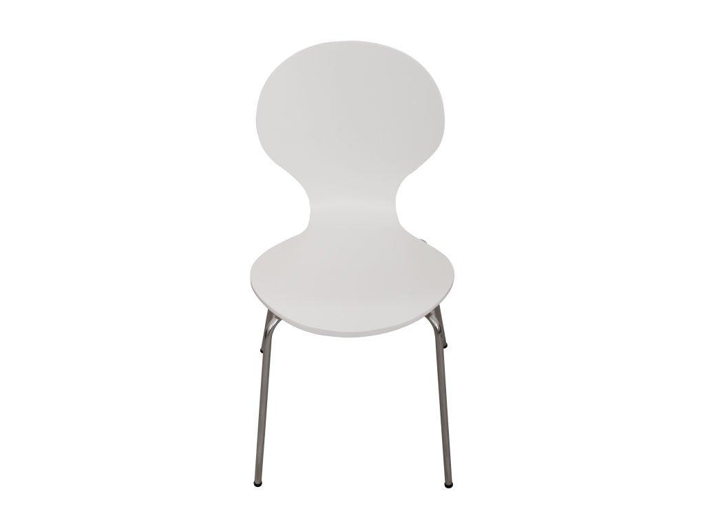 židle bílá /chrom Maul