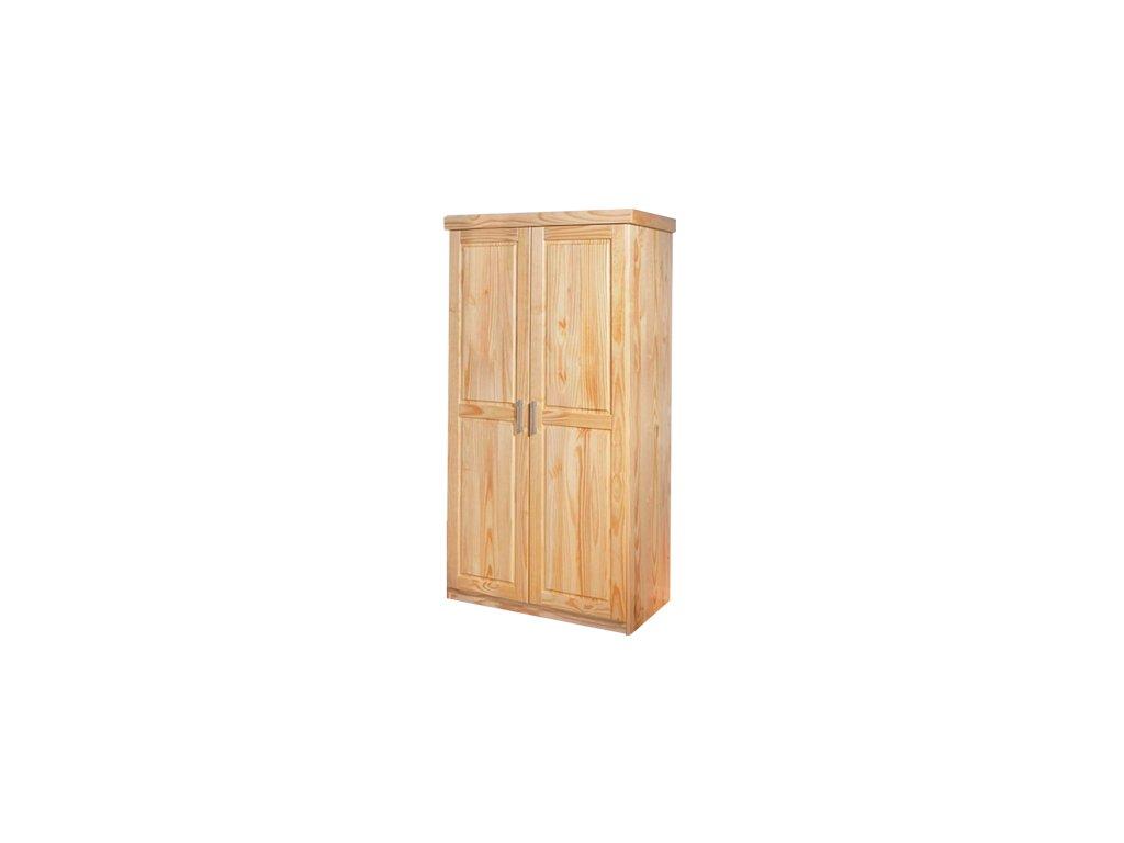 Masivní šatní skřín dvoudvěřová -borovice masiv