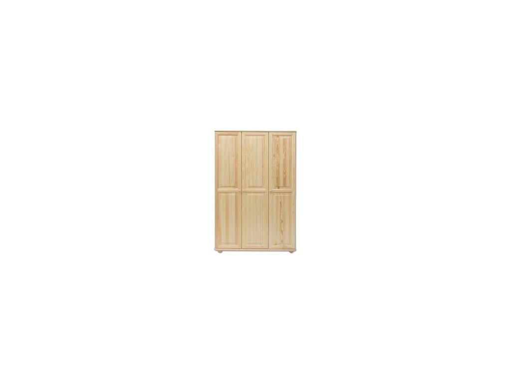 Kvalitní dřevěná šatní skříň KIK105 borovice masiv