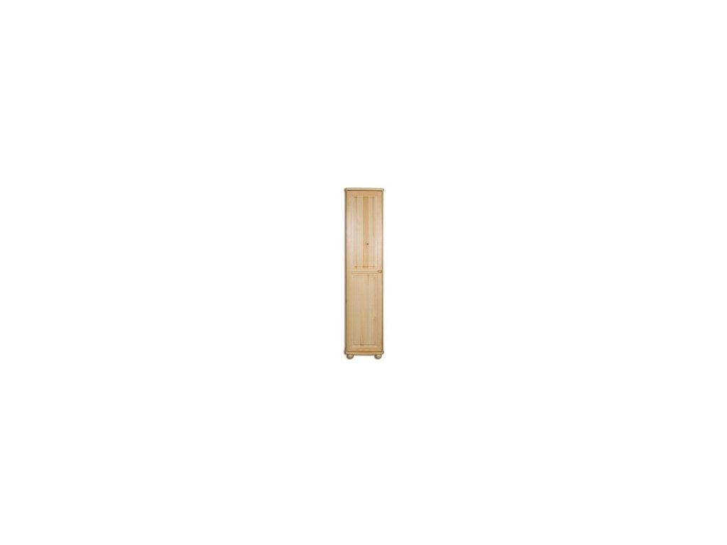 Dřevěná masivní šatní skřín KIK112 úzká -borovice masiv