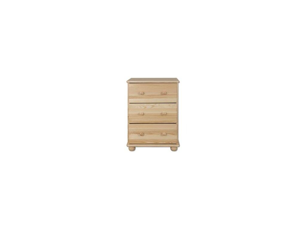 Dřevěná komoda 3 zásuvky  KIK 107 borovice masiv