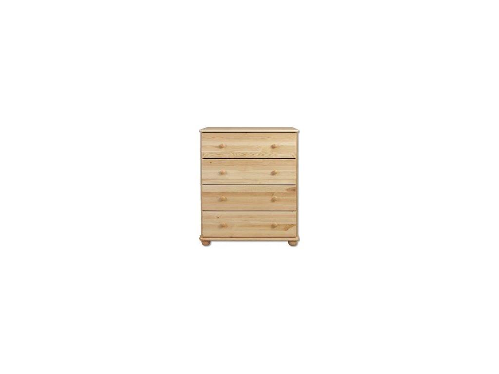 Dřevěná komoda 4 zásuvky  KIK 110 borovice masiv
