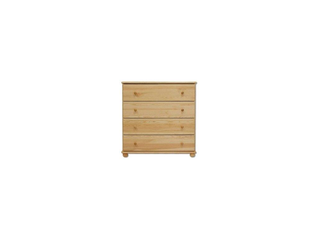 Dřevěná komoda 4 zásuvky KIK 119 borovice masiv 100x100x47 cm